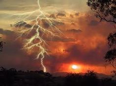 Lightening sunset