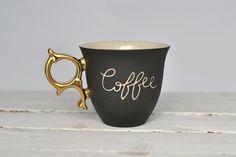 "Tasse ""Kaffee"" // mug with print ""coffee"" by COCO ceramics via DaWanda.com"