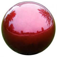 Red Stainless Steel Gazing Globe