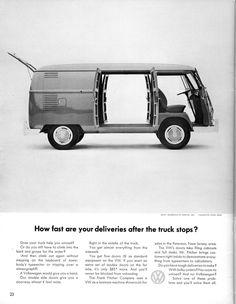 Volkswagen Ad - Truck Stops #vintage #volkswagens