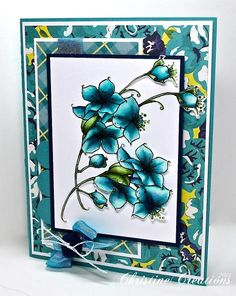 Blue Cherry Blossoms by ChristineCreations - Cards and Paper Crafts at Splitcoaststampers