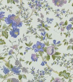 Home Decor 8''x 8'' Fabric Swatch-Waverly Lavaliere/Larkspur