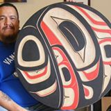 Gitxsan drum carved by my friend Trevor Angus! He's super talented!!