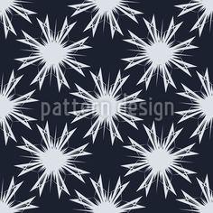 Night Snowflakes Design Pattern by Oleksii Kolchak-Terentiev at patterndesigns.com Vector Pattern, Pattern Design, Snowflake Designs, Surface Design, Snowflakes, Patterns, Night, Winter, Block Prints
