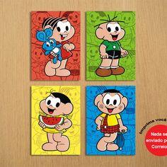 Poster Digital, Maria Clara, Peppa Pig, Baby Shark, Rapunzel, Alice, Doodles, Cartoon, Comics