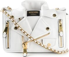 •Website: http://www.cuteandstylishbags.com/portfolio/moschino-white-biker-shoulder-bag/ •Bag: Moschino White Biker Shoulder Bag