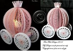 3D Tealight Carriage Cutting File Template by forevermemoriesforyo