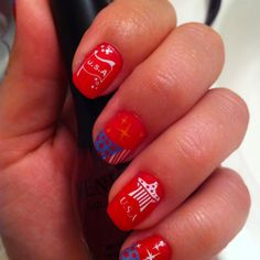 My 4th of July nail design in 2012