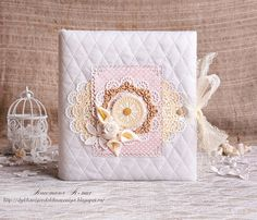 """FANTASY: Фотоальбом """"Нежность"""" Mini Scrapbook Albums, Mini Albums, Fabric Covered, Gift Wrapping, Blog, Diy, Notebooks, Scrapbooking, Russian Style"""