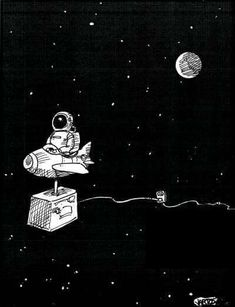 So have the outlet on my inner thigh and the astronaut on the front of my thigh Space Drawings, Art Drawings, Wallpaper Bonitos, Space Illustration, Astronaut Illustration, Major Tom, Man On The Moon, Outer Space, Pop Art