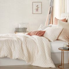 Peri Home Cable Knit Sherpa Full/queen Comforter Set In Ivory Ivory Bedding, Twin Comforter Sets, King Comforter, Bedding Sets, Comfy Bedroom, Bedroom Sets, Bedroom Inspo, Bedroom Decor