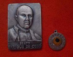 Enrique De Osso; Placa Y Relicario Con Ex Indumenti - Beato