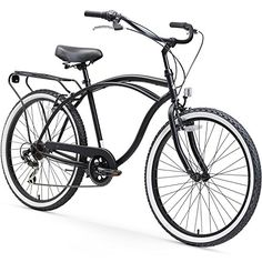 sixthreezero Around The Block Mens 26 Seven Speed Cruiser Bike Matte black 19  One Size * You can find out more details at the link of the image. This is an Amazon Affiliate links.