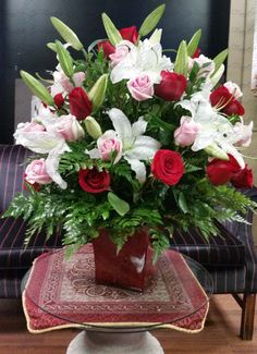 50 roses and lilies