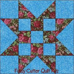 Scrappy Fabric Sawtooth Star 9 Patch Easy Pre-Cut Quilt Kit