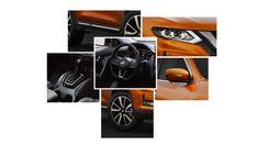 Koláž dizajnu Nissanu X-Trail 2017