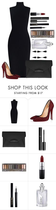 """Untitled #1428"" by fabianarveloc on Polyvore featuring Christian Louboutin, Givenchy, Chanel, Urban Decay, MAC Cosmetics, Lancôme, Cartier and Eva Fehren"