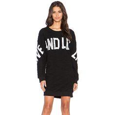 Love Moschino Sweatshirt Dress Loungewear ($450) ❤ liked on Polyvore