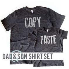 UNISEX and YOUTH Set | Copy & Paste Tees | Father and Son Shirt Set | cmd v | cmd c | Just Alike | Like Dad | Like Father Like Son | Fathers