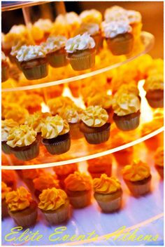 TRUE WEDDINGS | A Lemon Wedding by Elite Events Athens| Anca & Konstantinos | Wedding Tales - Ο γάμος των ονείρων σας! Mini Cupcakes, Sweet, Desserts, Food, Candy, Tailgate Desserts, Deserts, Essen, Postres