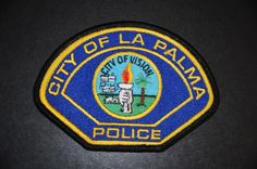 La Palma Police Patch, Orange County, California (Vintage 1991-2007 Issue - Current Non-Sworn Employee Issue)