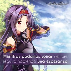 anime frases frases anime sentimientos ShuOumaGcrow Sword art online