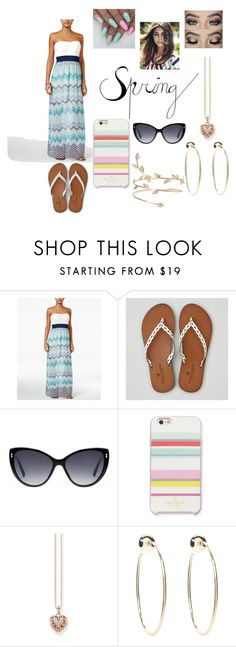"""""""Outfit #66"""" by cali-chick03 ❤ liked on Polyvore featuring Trixxi, American Eagle Outfitters, Gucci, Kate Spade, Thomas Sabo and Bebe"""