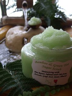 SHEA BUTTER SUGAR Scrub Large 8 oz Tub with Avocado / Sweet Almond Oil
