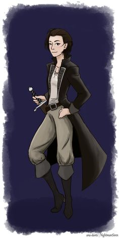 Click here for Kell An old sketch I drew when I first read A Darker Shade of Magic, now done digitally in honour of A Gathering of Shadows' release. Which I just finished. My soul is crying. (In ca...