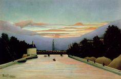 Rousseau,H. La tour Eiffel, ca 1898, Museum of Fine Arts, Ho. Анри Руссо