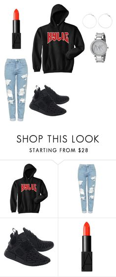 """ujhygtfred"" by dianaaaaaaaaaaaa on Polyvore featuring Topshop, adidas Originals, NARS Cosmetics and Michael Kors"