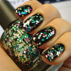 love this over black.....check out Chole's Nails blog