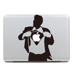 Brand New Black Suit Man 1-Mac Decal Macbook Decals Macbook Stickers Vinyl decal for Apple Macbook Pro/Air iPad via Etsy.