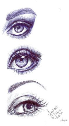 Eye Sketches done in Ball-Point pen! Also being sold as prints!! :D