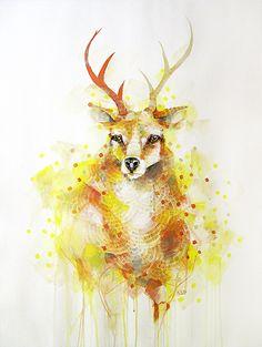 'Deer Buck' painting by Michael Cain- Gnashing Teeth (gnashingteeth)