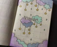 35 Beautiful and Enchanting November Bujo Ideas for Your Bullet Journal - - Doodle ideen - Bullet Journal 2019, Bullet Journal Notebook, Bullet Journal Spread, Bullet Journal Ideas Pages, Bullet Journal Layout, Bullet Journal Inspiration, Bullet Journals, Bullet Journal November Ideas, Diy Journal Cover Ideas