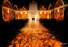 Amber Colored Gobo Pattern at Casa Real - Fantasy Sound Event Services