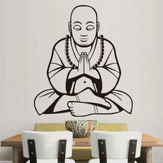 Buddha Wall Stickers Praying Meditation Home Decor Vinyl Wall Decals Removable DIY living room Wall Murals Decoration. Yesterday's price: US $10.99 (9.10 EUR). Today's price: US $9.01 (7.46 EUR). Discount: 18%.