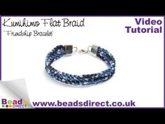 Learn how to use the square kumihimo plate to make a flat kumihimo braided bracelet. Your flat braid will look like a friendship bracelet.  This bracelet is made using 10 strands of rattail cord in blue tones. This technique is simple to pick up and try for yourself.  If you have created a round kumihimo braid before then the flat braid is the perfect way to develop your kumihimo skills. http://youtu.be/VEpHaZY80dw