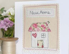 Machine Embroidery Projects Handmade Card Freehand Machine Embroidery New by AvalonAndMisty - Embroidery Cards, Free Motion Embroidery, Hand Embroidery Patterns, Learn Embroidery, Embroidery Stitches, Freehand Machine Embroidery, Machine Embroidery Projects, Free Machine Embroidery, New Home Cards