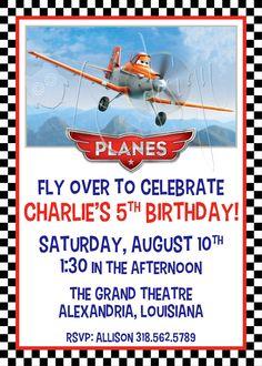 Disney's PLANES Birthday Party Invitation