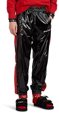 Jogger Pants, Joggers, Silk Knickers, Vinyl Clothing, Pvc Raincoat, Rain Wear, Athletic Wear, Moncler, Black Pants
