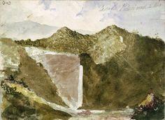[Mantell, Walter Baldock Durrant] 1820-1895 :Cascade, Pitoni Road, 4 Nov [1855?]