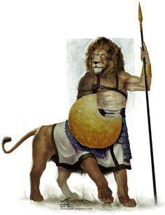 Urmahlullu- Mesopotamian myth: lion/man hybrids. A warrior race that showed no mercy in battle.