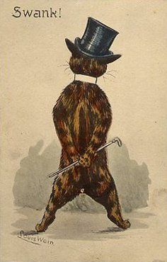 Swank!, United Kingdom, date unknown, by Louis Wain.