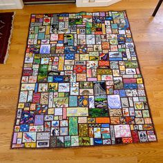 """twin sized ticker tape """"I spy"""" quilt 