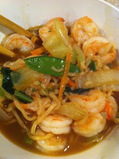 Mama Feta's Meals: Ramen Shrimp and Vegetables
