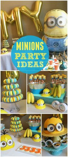 How fun is this Despicable Me Minion party? See more party ideas at !You can find Minion party and more on our website. Despicable Me Party, Minion Party Theme, Minion Birthday, Minion Party Decorations, 6th Birthday Parties, Birthday Fun, Birthday Ideas, Party Ideas, Ideas Party