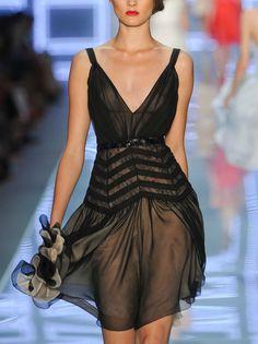 Sheer chevron dress / Dior spring 2012