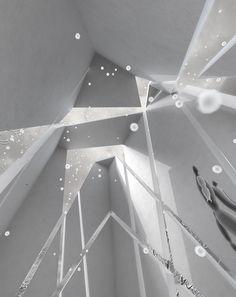 """"""" 庭と入り口と夜 """" 3部作より, 「テラスハウス - ひび割れた筒」 a trilogy """" garden  entrance  night """",  No2."""" Terrace House -Cracked tube, """", By EASTERN design office, Source: http://www.easterndesignoffice.jp/home/project/p10_terrace Source: http://sumai.nikkei.co.jp/style/tyumon/16_02.html"""